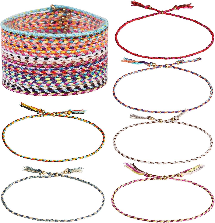 Dxhycc 24 Pieces Tulsa Mall Woven Friendship Fri Bracelets gift Handmade Braided