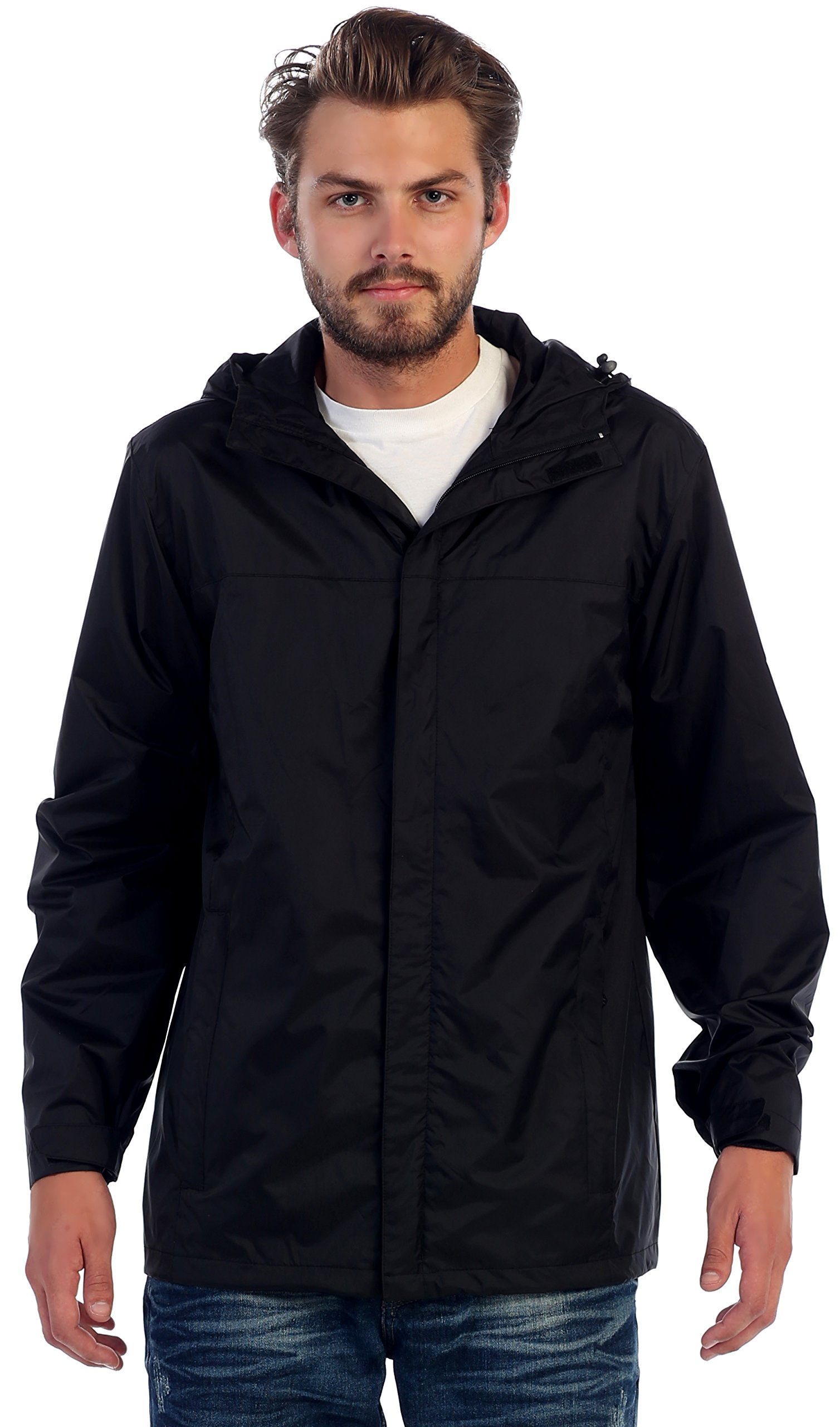 Gioberti Mens Waterproof Jacket Black