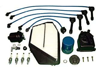 Tune Up Kit Includes Distributor Cap and Rotor all filters NGK plugs and Ignition Wires Compatible With Honda Accord LX DX 1994 to 1997