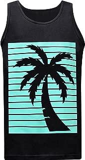 California Republic Turquoise Palm Men's Muscle Tee Tank Top