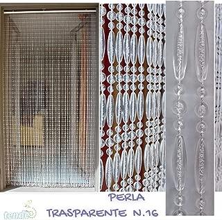 Mod/èle Diamante Made in Italy B/âtonnet DALUMINIUM 90X180, Argent 2 Mesures - Cirillo Tende Rideau//Moustiquaire en PVC