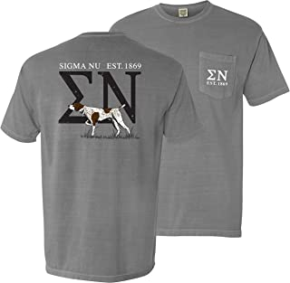 Sigma Nu Comfort Colors Gray Pocket Tee