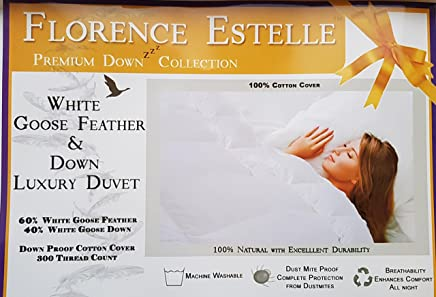 Bedding Luxury Single Bed All Season Duck Feather & Down 2 In 1 Duvet Quilt 4.5+9.0tog Home & Garden