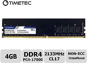 Timetec Hynix IC 4GB DDR4 2133MHz PC4-17000 Non ECC Unbuffered 1.2V CL15 1R8 Single Rank 288 Pin UDIMM Desktop PC Computer Memory Ram Module Upgrade (4GB)