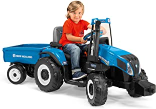 Peg Perego New Holland T8 Tractor & Trailer, Blue