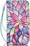 iPhone 5C H�lle, iPhone 5C Case, Anlike Schutzh�lle Wallet Case Tasche Cover Handytasche Schutzh�lle Handy Zubeh�r Lederh�lle Handyh�lle mit Standfunktion Kredit Kartenf�cher H�lle f�r iPhone 5C (4 Zo