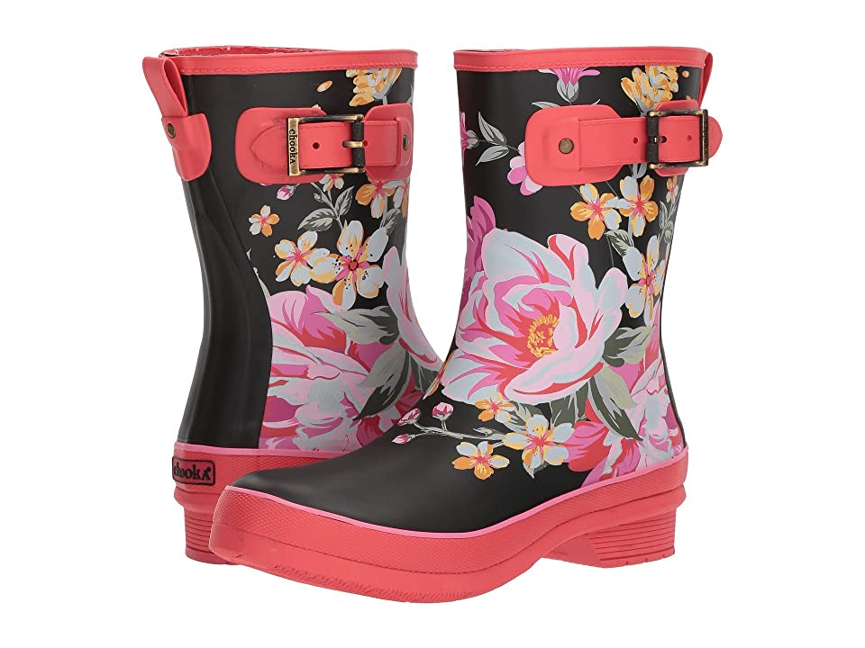 Chooka Hilde Mid Rain Boots (Fuchsia) Women