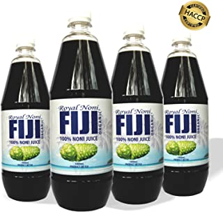 Royal Noni | Pure Noni Juice 4 Pack 32 FL Ounce Bottles | Cold Pressed from Organic Fiji Noni | Vegan Superfood Packed with Antioxidents for your Wellbeing