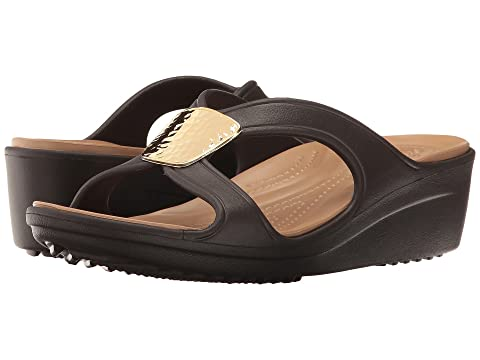 34841524f549 Crocs Sanrah Embellished Wedge at 6pm