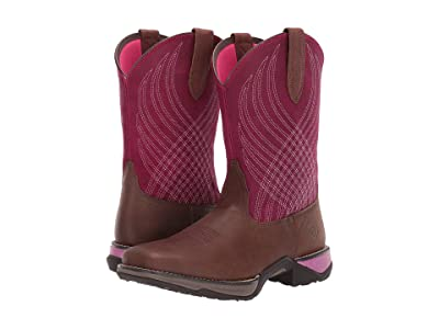Ariat Anthem (Matte Brown/Raspberry) Cowboy Boots