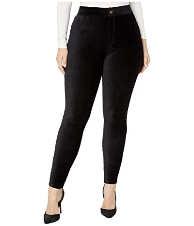 HUE Plus Size Corduroy Leggings (Black) Women