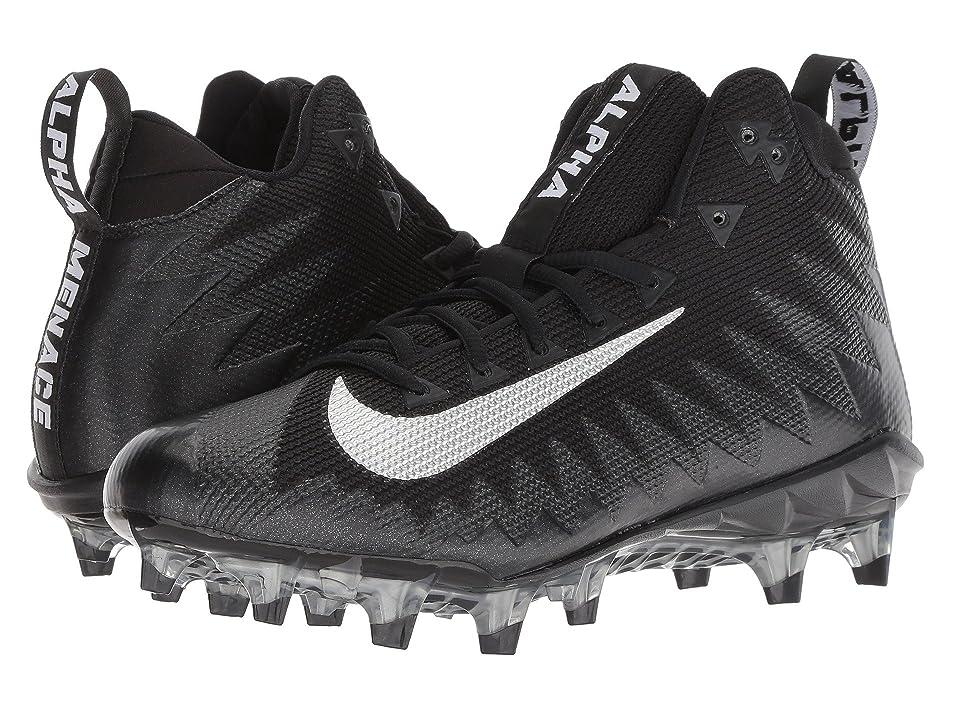 Nike Alpha Menace Pro Mid (Black/Metallic Silver/Black) Men