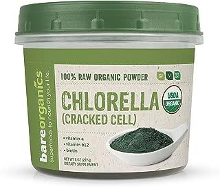 BareOrganics Chlorella Powder Cracked Cell Wall   Raw & Natural Superfood Powder - Organic, Vegan, Gluten-Free & Non-GMO, 8 oz.
