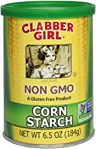 Clabber Girl Corn Starch, Non GMO, Gluten Free, Vegan, Vegetarian, Thickener for sauce, soup, gravy in a Resealable Can,  6.5 oz Can