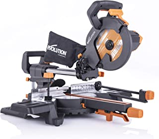 Evolution Power Tools R210SMS-300+ Sliding Mitre Saw with Multi-Material Cutting, 45 Degree Bevel, 50 Degree Mitre, 300 mm...