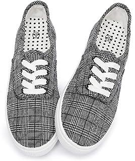 Women's Canvas Shoes Non Slip Comfortable Walking Black...