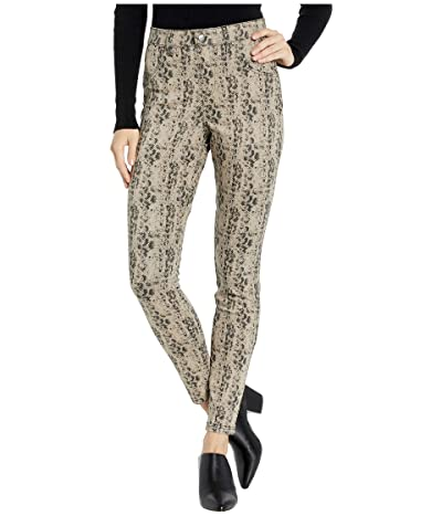 HUE Python High-Waist Denim Leggings (Silver Mink) Women