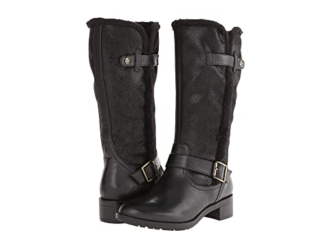 Womens Boots Naturalizer Maddox Black Smooth/Faux Fur