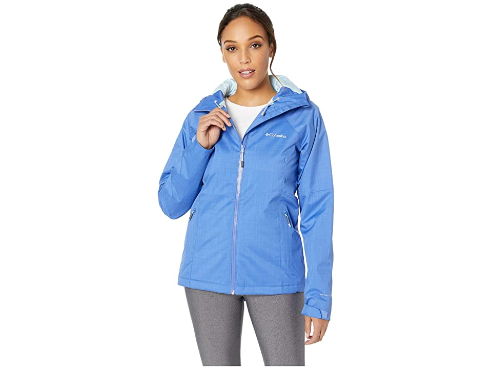 Columbia Top Pinetm Insulated Rain Jacket (Arctic Blue Melange/Pale Blue) Women