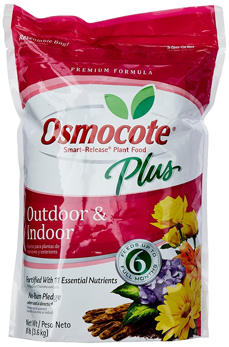 Osmocote 274850 Plus Outdoor and Indoor Smart-Release Food (Plant Fertilizer), 8-Pound, Brown/A