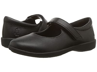 Hush Puppies Kids Lexi (Toddler/Little Kid) (Black Leather) Girl
