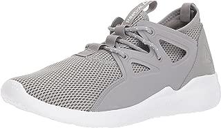 Reebok Women's Cardio Motion Cross Trainer, Tin Grey/White/Lemon Zest, 11 M US