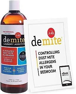 DeMite Laundry Additive (1 Liter) Allergen Eliminator with Bonus eBook - Expert Pro Tips to Eliminate Dust Mite Allergens