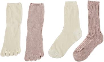 千代治のくつ下 冷えとり靴下 4足重ね履き 22cm-24cm シルク100%とオーガニックコットン100% 日本製