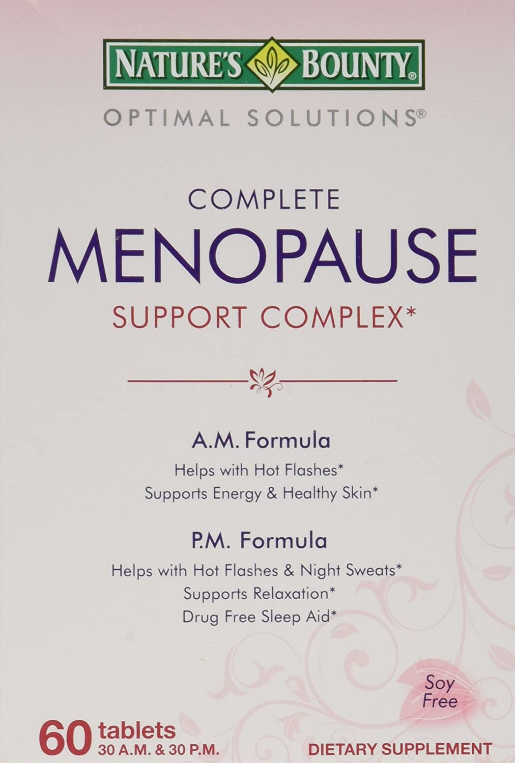 Nature's supreme Bounty Optimal Solutions famous Tablets Support 60 Menopause