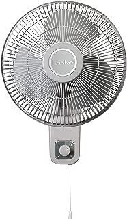 Lasko M12900 Oscillating 12 inch Wall Mount Fan for Indoor Use, Light Grey