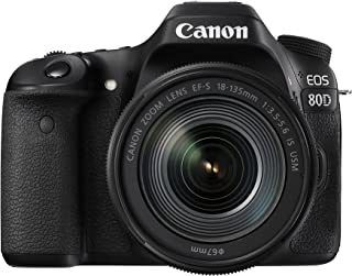 Canon EOS 80D - Cámara réflex digital de 24.2 MP (pantalla táctil de 3 video Full HD enfoque automático WiFi objetivo Canon EF 18 - 135 mm f/3.5 - 5.6 IS (versión importada))