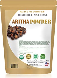 Oladole Natural Aritha Powder Sapindus Laurifolia for Silky Hair Certified 100% Organic