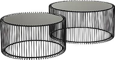 Kare Design Couchtisch Wire Black (2/Set), 33,5x69,5x69,5cm
