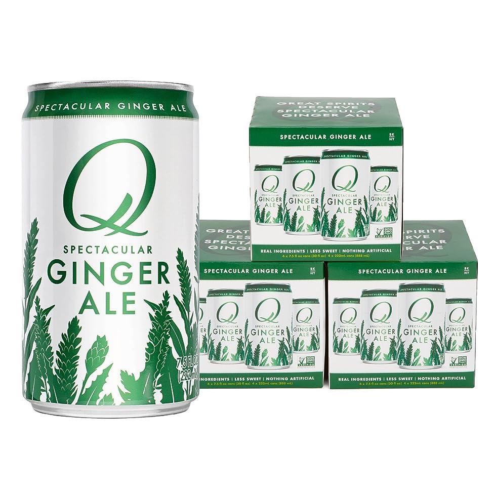 Q Mixers, Q Ginger Ale Spectacular Ginger Ale, Premium Mixer, 7.5 Fl Oz Slim Can (Pack of 12)