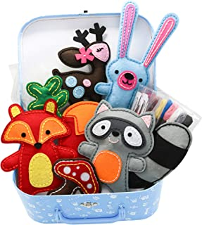 Chloe Craft Woodland Friends - Educational Sewing Kit with Everything Included Pre-Cut Pre-Punched Just Stitch!