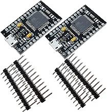 diymore Pro Micro ATmega32U4-AU - Placa Base para Arduino Leonardo (sustituye a ATmega328 Arduino Pro Mini, 5 V/16 MHz, 2 Filas) 2PCS 5V/16MHz