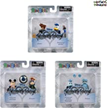 Minimates Kingdom Hearts Series 1 Complete Set of Three 2-Packs (6 Figures) Sora, Mickey Mouse, Donald Duck, Goofy, Tron & Space Paranoids Donald Duck