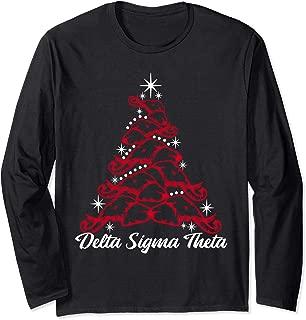 Delta DST Sigma Christmas Holiday Elephant Long Sleeve Shirt