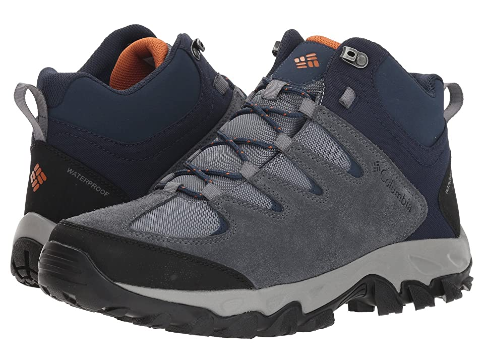 Columbia Buxton Peaktm Mid Waterproof (Grey Ash/Bright Copper) Men