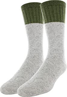 Field & Stream Crew Boot Socks 2 Pack (Grey, L)