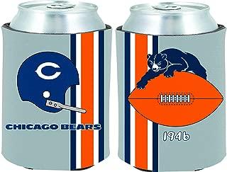 Chicago Bears 2-Pack CAN Retro Throwback Koozie Neoprene Holder Cooler Football
