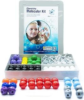 Chemistry Model Kit (239 Pieces)   Molecular 3D Modeling Kit   Organic & Inorganic Atoms & Bonds   Instructional Guide for Students Kids Teachers