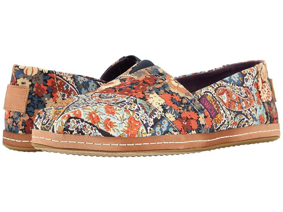 TOMS Alpargata (Navy Paisley/Floral Linen) Women