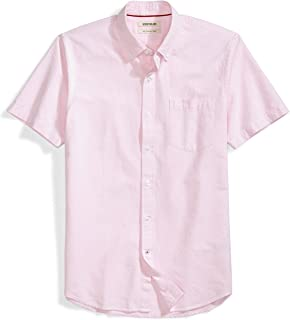 Amazon Brand - Goodthreads Men's Slim-Fit Short-Sleeve Solid Oxford Shirt