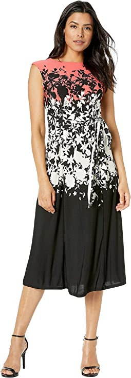 Printed Havana Crepe Dress