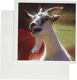 3dRose Funny Talking Goat Photography - Greeting Cards, 6 x 6