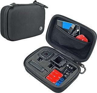 CamKix Camera y estuche de accesorios compatible con GoPro HERO 5 / 4 Session Cameras - Ideal para viajar o almacenar- Proteccion complete – Ajuste perfecto – Mosqueton y paño de microfibra para limpieza incluidos