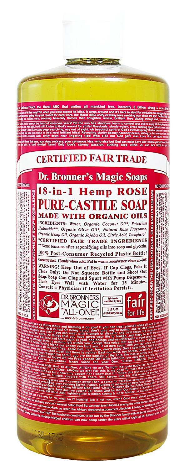 Org Rose Oil Castile Soap-944 Max 88% OFF ml Soap Bronners Translated Dr. Brand: Magic