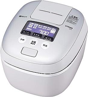 タイガー魔法瓶(TIGER) 炊飯器 5.5合 圧力IH 土鍋コーティング 極うま機能付き 炊きたて ホワイトグレー JPC-A101-WH