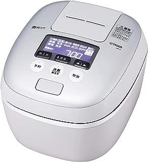 タイガー 炊飯器 5.5合 圧力IH 土鍋コーティング 極うま機能付き 炊きたて ホワイトグレー JPC-A101-WH